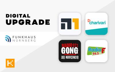 Vier neue Apps für das Funkhaus Nürnberg